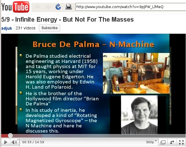5 of 9 Infinite Energy - But Not For The Masses - Bruce De Palma, N-Machine